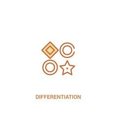 Differentiation concept 2 colored icon simple vector