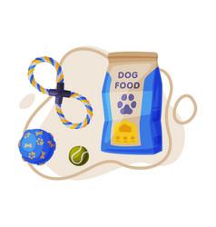dog accessories set pet animal stuff food vector image