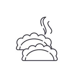 dumplings line icon concept dumplings vector image