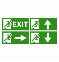 Exit boarders collection isolated vector