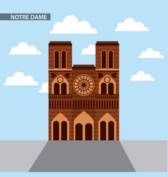 famous monuments france vector image