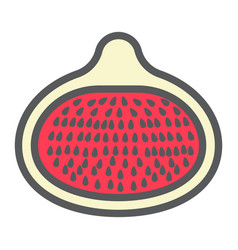 fig line icon fruit and diet graphics vector image