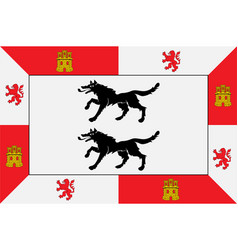 Flag cuadrilla de ayala in basque country vector