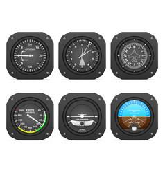 Flight instruments vector