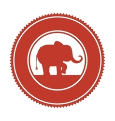 Funny elephant circus icon vector
