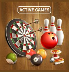 Games realistic concept vector