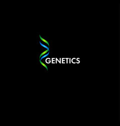 genetic logo vector image