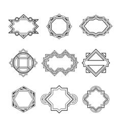Geometric vintage label frames vector image