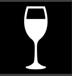 glass of wine white color icon vector image