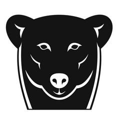 head female polar bear icon simple style vector image
