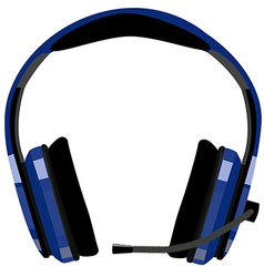 Headphones with microphone vector image