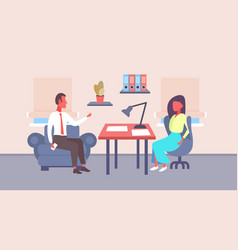 hr businessman recruitment company worker sitting vector image