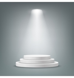 Illuminated round stage podium vector