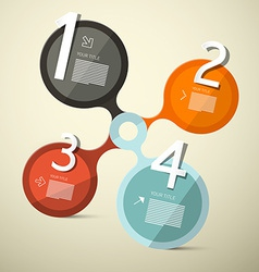 Infographics Circle Four Steps vector image