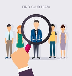 Job search and career Human resources management vector image