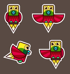 Lesser Bird of Paradise cartoon vector image