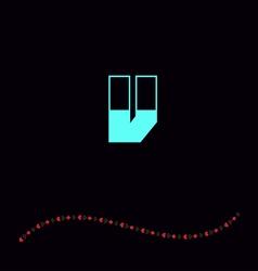 letter V-01 vector image vector image