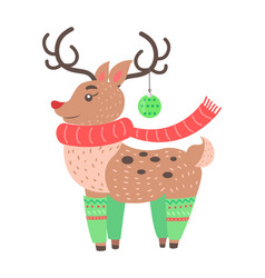 little cute deer icon vector image