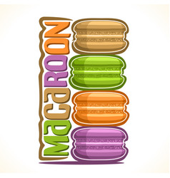 Logo for macaroon vector