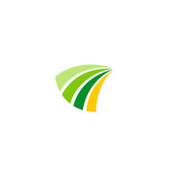 loop stripe business logo vector image