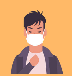 Man wearing face mask environmental industrial vector