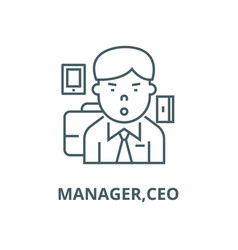 managerceo line icon linear concept vector image