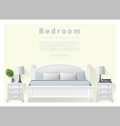 Modern bedroom background Interior design 7 vector image