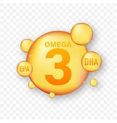 Omega fatty acid epa dha omega three natural fish vector