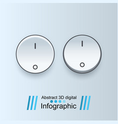 on off icon vector image