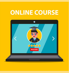 Online learning from your laptop teacher choice vector