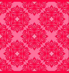 pink floral seamless tiled classic pattern vector image