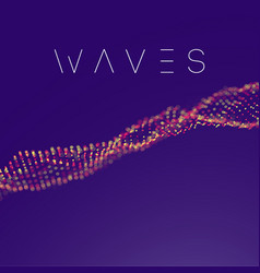 pink purple wave background abstract vector image