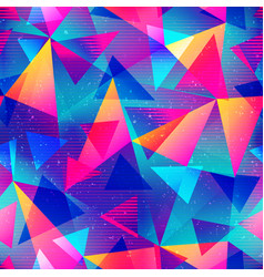 Rainbow color triangle seamless pattern vector