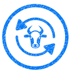 Refresh cow rounded grainy icon vector