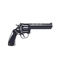 revolver handgun gun isolated on white vector image