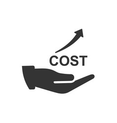 Rising costs icon vector