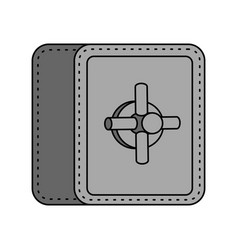 safe isolated strongbox cartoon style large iron vector image
