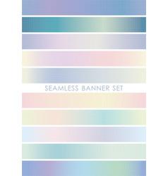 seamless banner set vector image