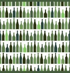 seamless pattern of rows of multi-colored wine vector image