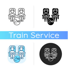 Second class seats icon vector
