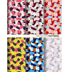 Set pattern abstraction colored spots vector