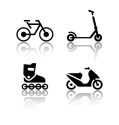 Set transport icons - extreme sports vector
