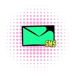 Sms icon comics style vector image