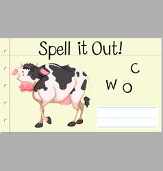 Spell it out cow vector
