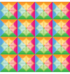 Squares pattern retro color background vector