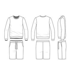sweatshirt and shorts vector image
