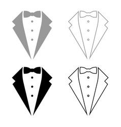 Symbol service dinner jacket bow tuxedo concept vector