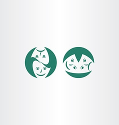 Theatre masks icon logo symbol vector