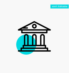 University bank campus court turquoise highlight vector