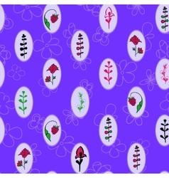 Vintage frames seamless floral pattern vector image